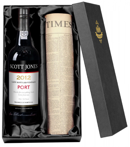 Personalised Port and Newspaper Giftpack